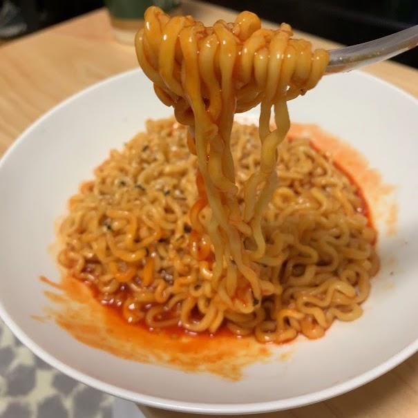 ヘッブルダック炒め麺(2倍)の作り方・実食