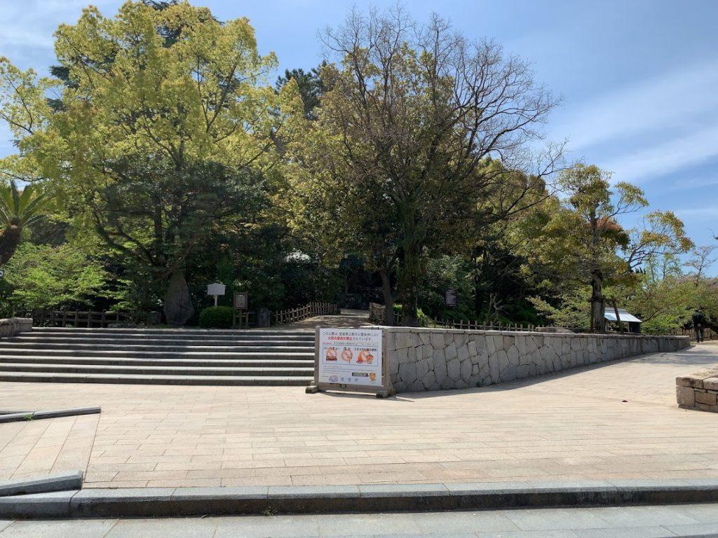 道後温泉観光のモデルコース・道後公園