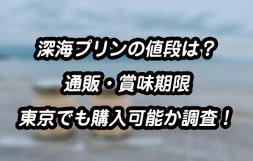 [沼津]深海プリンの値段はいくら?通販についてや賞味期限、東京でも購入可能か調査