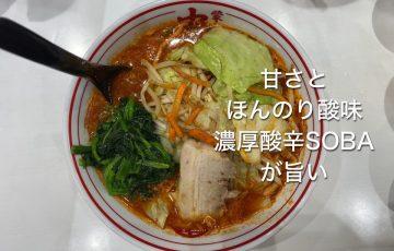 町田中本で濃厚酸辛SOBAを食べてきた!甘・酸・辛味の融合傑作な一杯!?