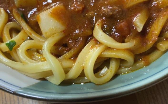 中本の汁なしカレー誠炸羅麺を実食2