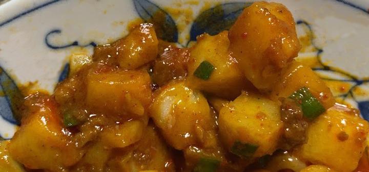 中本の汁なしカレー誠炸羅麺を実食3