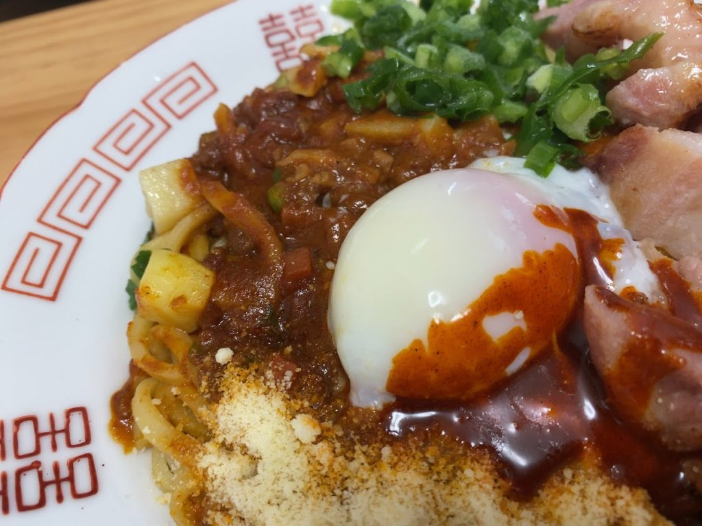 中本の汁なしカレー誠炸羅(まさら)麺を魔アレンジ3