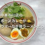 蒙古タンメン中本市川店でボーンカレー!さっぱりなんだけどコクが有る大人カレーな一杯